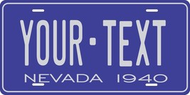 Nevada 1940 License Plate Personalized Custom Auto Bike Motorcycle Moped key tag - $10.99+