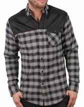 Staple New York Noir Gris Rouge Complexe Flanelle à Carreaux Bouton T-Shirt Nwt