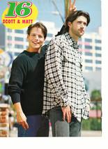Matthew Fox Scott Wolf Mark Paul gosselaar teen magazine pinup clipping brothers