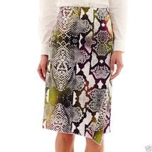 Worthington Envelope Pencil Skirt Size 6 Msrp $36.00 Snake Multi New - $14.99
