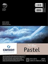 Canson Mi-Teintes Pastel Paper Pad, Dual Sided Textures for Pastels, Cha... - $13.44