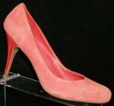 Jessica Simpson Oscar coral suede round toe slip on pump heels 9.5B 0085 - $18.49