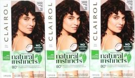 3 Clairol Natural Instincts New Improved 3RR Cherry Darkest Red Last 28 Shampoo - $25.99