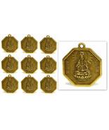 """LOT OF 10 KWAN YIN FENG SHUI CHARMS 1"""" Chinese Brass Pendant Bagua Good ... - $8.95"""
