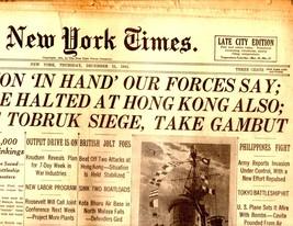 The New York Times, Thursday, December 11, 1941 - $4.50
