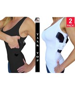 fad3ac6828a572 AC UNDERCOVER TANK TOP Shirt Holster Concealed Carry Shirt (Black/White .