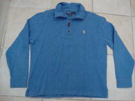 Polo Ralph Lauren Blue Long Sleeve Pullover jacket sweatshirt M - $34.69