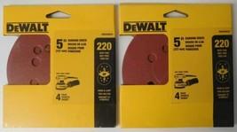 "Dewalt DWAS58224 5"" Sanding Discs 220 Grit H&L 5 or 8 Hole (2 Packs of 4... - $2.72"