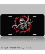 """Skull Skeleton 100% Aluminum Vanity License Plate Tag 6"""" x 12"""" Chrome Th... - $12.82"""