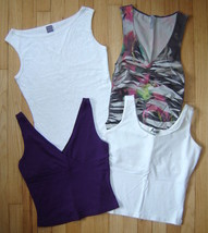Women's 4-pc MIXED LOT Stretch Fitted Tank Tops (S) Express, A'nue, Last... - $19.50