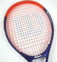 "Wilson Rak Attak jr 25 oversized orange purple 4"" Tennis racket  - $9.85"