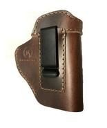 IWB Brown Leather Belt Clip Gun holster For Hi-Point C-9,CF-380,9mm - $24.95