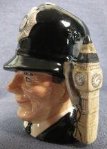 """The London Bobby D6762 Royal Doulton Character Toby Jug Small 4"""" 10cm Big Ben image 4"""