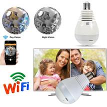 360° IP Wifi Wireless HD Camera Surveillance Panoramic Fisheye Bulb Lamp... - $22.56