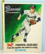1969 Atlanta Braves Baseball Scorecard vs S.F. Giants Union 76 Unscored - $7.43