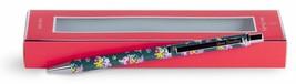 Vera Bradley Black Ink Metal Click Ballpoint Pen Pretty Posies Tossed Po... - $13.50