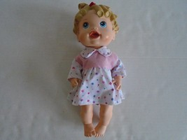"13"" Blonde Baby Alive ""All Gone"" Interactive Baby Doll By Hasbro 2009 Euc - $14.99"