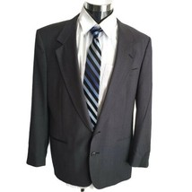 Nino Cerruti Rue Royale Charcoal Gray Striped Mens Suit Jacket 42R - $49.49
