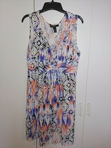 STYLE & CO.LADIES SLEEVELESS RAYON/SPANDEX KNIT SUN DRESS-L-WORN ONCE-CO... - $13.99