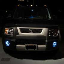 Blue Halo Angel Eye Fog Light Driving Lamps Kit for 2003-2011 Honda Element - $119.77
