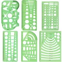 XDLink Lot de 6 Règle Géométrique Plastique Cercle Hexagone Carré Triang... - $17.68