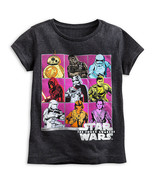"Disney Store Girls Star Wars ""The Force Awakens"" Cast T-Shirt, Black - $15.00"
