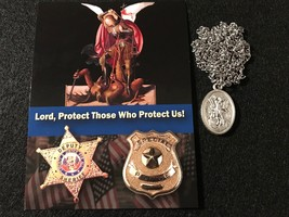 St. Michael (patron saint of the military and police officers) Medal Necklace - $12.95