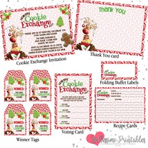 Cookie Exchange Invitation Printable Party Package Holiday cookie party - $15.00