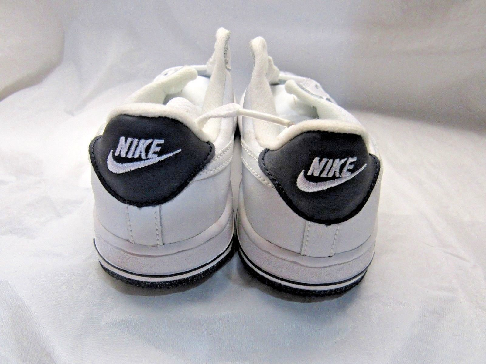 various colors 5dea7 8f671 NIKE 624047-117 KID FORCE 1 (PS) All White Black Sole Sneakers Size