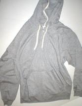 New Mens Adidas NBA Gray Soft Fleece Hoodie Jacket L Large Pockets Baske... - $67.60