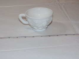 Westmoreland Milk Glass coffee tea cup Grape Vine design white Vintage 3... - $14.35