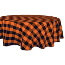 DII Cotton Buffalo Check Plaid Round Tablecloth for Family Dinners or Ga... - €28,91 EUR