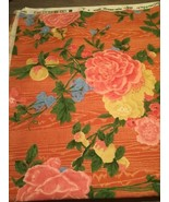 Bob Collins And Sons Fabric English Garden Floral 5 Yards Vintage 1994 - $233.39