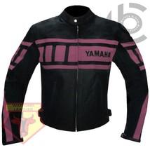 YAMAHA 0120 PINK MOTORCYCLE MOTORBIKE BIKERS ARMOURED COWHIDE LEATHER JA... - $194.99