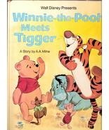 Walt Disney Presents WINNIE THE POOH  MEETS TIGGER   Big Golden  1976  14th - $11.31
