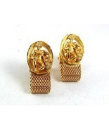 1970's Goldtone ZODIAC MIDAS AQUARIUS Wrap Around Cufflinks 111317 - $16.08