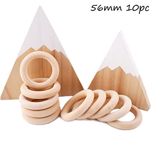 Baby Love Home Baby Wooden Teether 56mm 10pcs Maple DIY Teether Necklace Bracele
