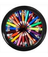 Colorful Pencils Wall Clock - Unique Novelty Gifts - $18.58