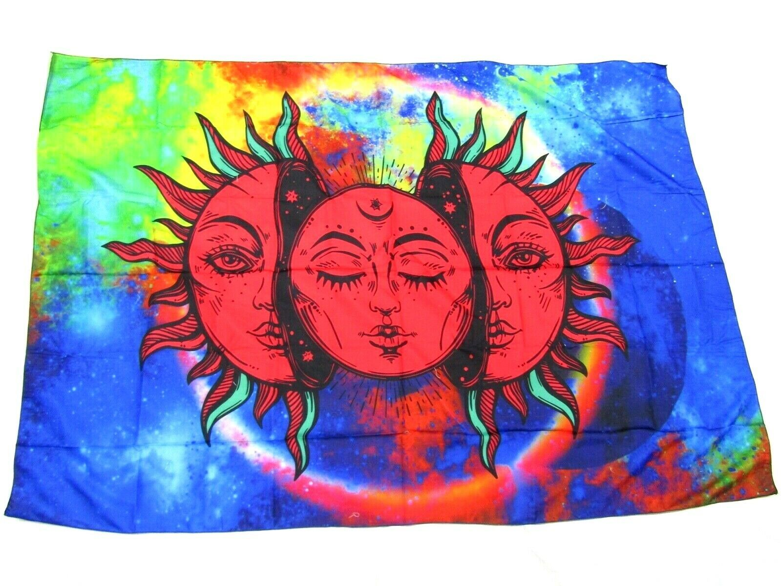 "Primary image for Printed Tablecloth 100 x 150 cm (56""x39"") Rectangular Celestial Sun. Polyester"