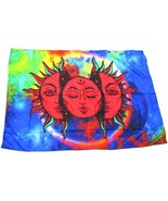 "Printed Tablecloth 100 x 150 cm (56""x39"") Rectangular Celestial Sun. Pol... - $19.75"