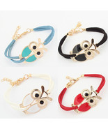 Handmade Wristband Braided Womens Girls Vintage Love Anchor Owl Decoration - $9.99