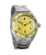 Vostok Komandirskie 650855 /2416 Automatic Russian wrist watch Date Yell... - $77.72