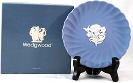 Wedgewood 4018 Fluted Jasper Candy Tray in Box #1 Blue Jasperware Flower... - $26.99