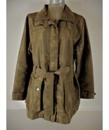 ZEROXPOSUR WOMENS  Large  TAN ZIP UP TIE FRONT LINED TRENCH JACKET COAT (O) - $47.88