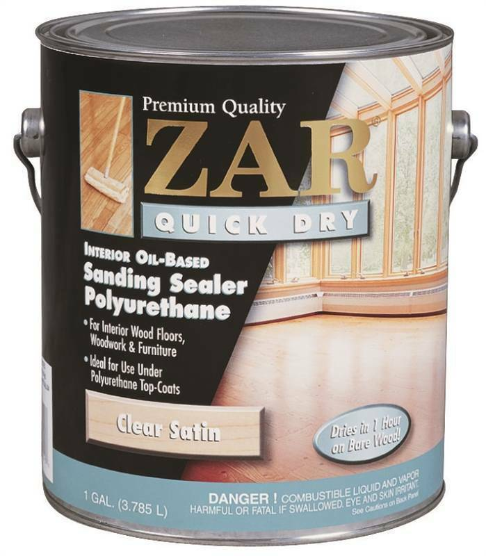 1 Gallon Zar Clear Satin Oil Quick Dry Polyurethane 26213 United Gilsonite Lab