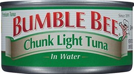 BUMBLE BEE Chunk Light Tuna In Water, Wild Caught, High Protein Food, Gluten Fre - $55.90