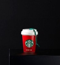 New Starbucks Holiday Ceramic Christmas Ornament/Red Cup - $11.95