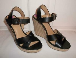 Michael Kors Viola Womens Leather Cross Ankle Strap Wedge Sandal Platfor... - $74.99