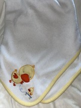 Child of Mine Carters Duck Pull Toy Blanket Squeaks Quacks White Yellow ... - $24.74