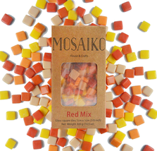 Mosaiko Red Mix 300G (10.5Oz) - Mosaic Glass Tiles For Crafts - Premium ... - $24.91